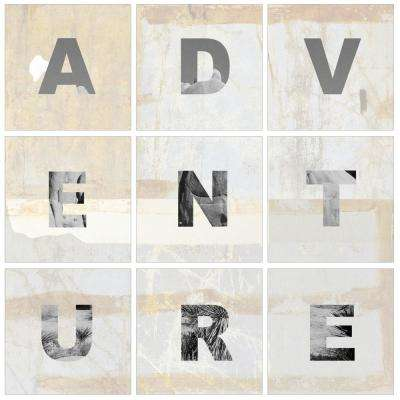 "12 in. x 12 in. ""ADVENTURE Light and Bright"" by In House Art Printed Canvas Wall Art 9-Piece"