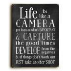 """9 in. x 12 in. + """"Life Is Like A Camera"""" by Nancy Anderson Printed Wall Art"""