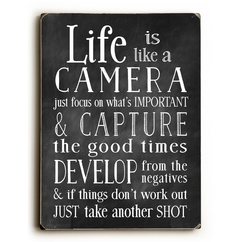 "9 in. x 12 in. + ""Life Is Like A Camera"" by Nancy Anderson Printed Wall Art"