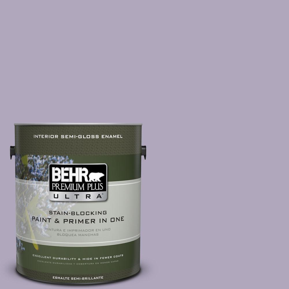 1-gal. #650E-3 Plum Blossom Semi-Gloss Enamel Interior Paint