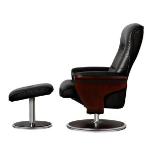 Wondrous Artiva Milano Modern Bend Wood Black Leather Swivel Recliner Uwap Interior Chair Design Uwaporg