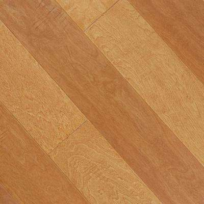 Hand Scraped Maple Durham 3/8 in. T x 5-1/4 in. W x Varying Length Click Lock Hardwood Flooring (27.56 sq. ft. /cs)
