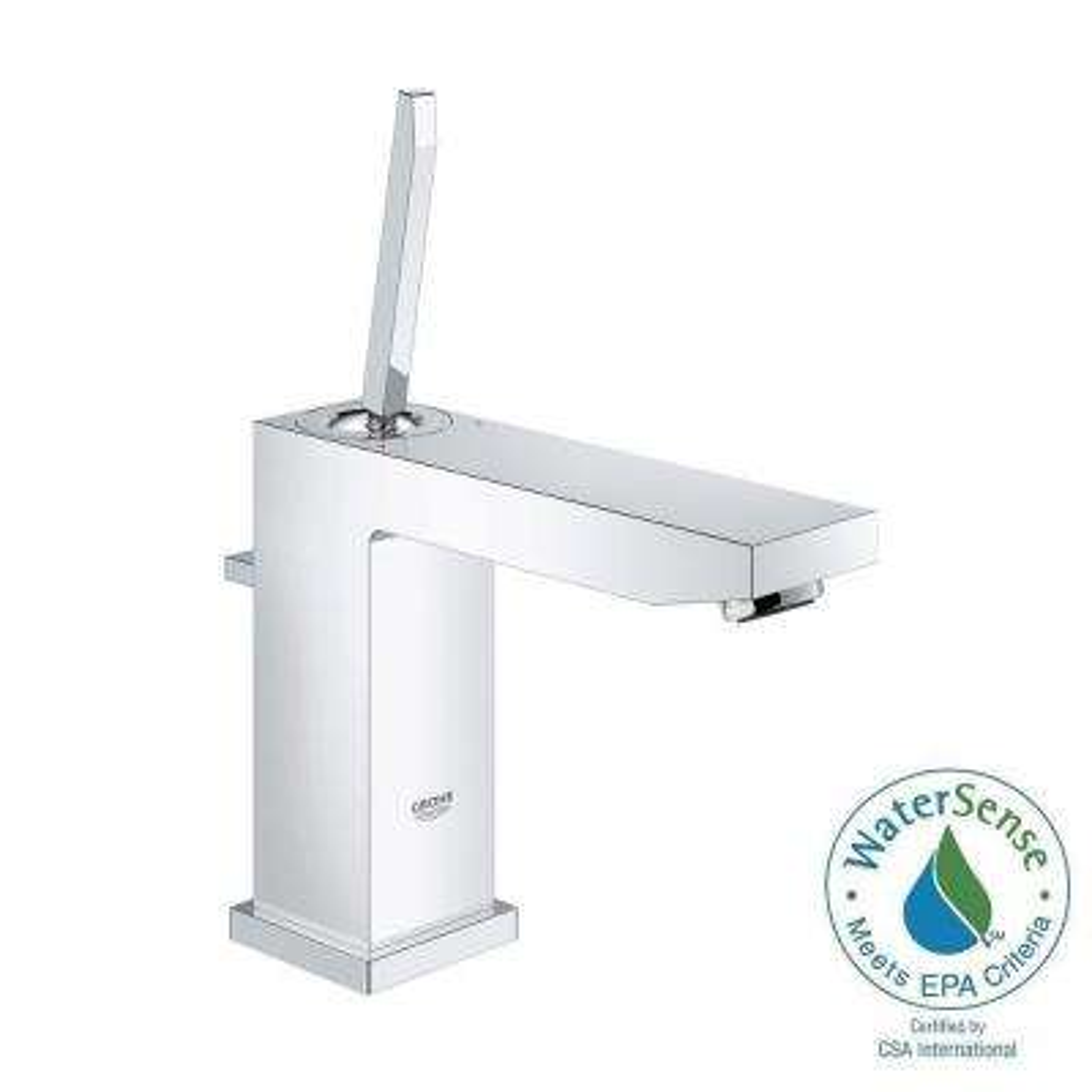 Eurocube Joy M-Size Single Hole Single-Handle Bathroom Faucet in StarLight Chrome