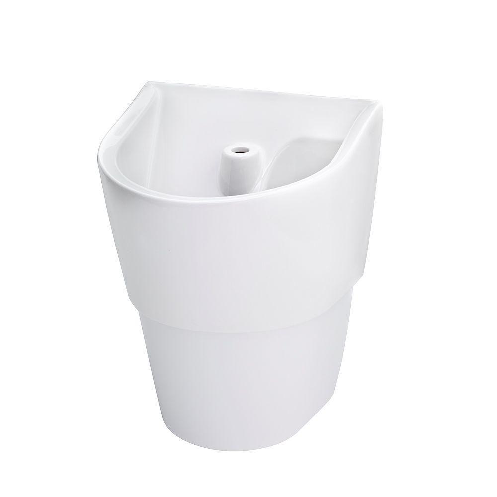 ICS Deep Basin Wall-Mounted Bathroom Sink in White