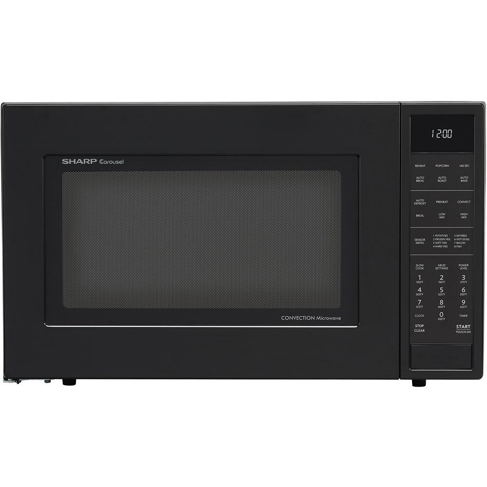 Sharp 1 5 Cu Ft Countertop Convection Microwave In Black Built Capable