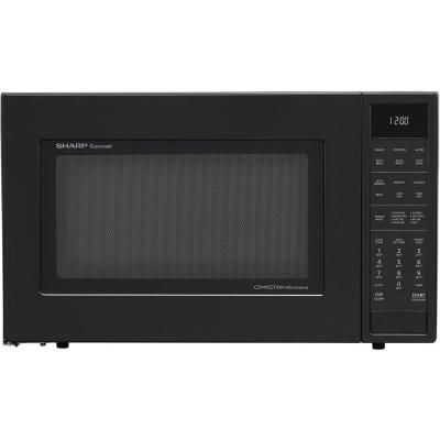 1.5 cu. ft. Countertop Convection Microwave in Black, Built-In Capable with Sensor Cooking