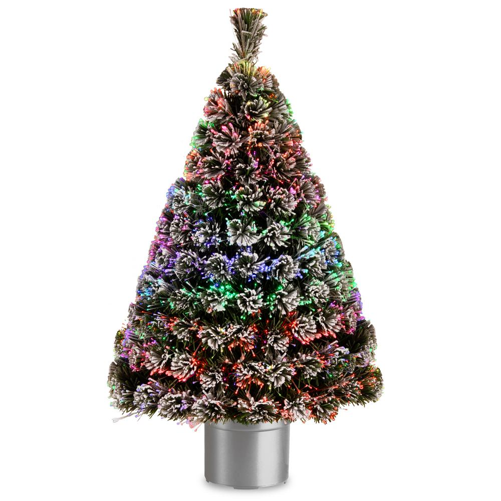 4 ft. Fiber Optic Evergreen Flocked Artificial Christmas Tree