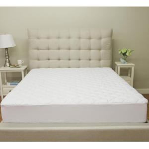 Deluxe Cotton Queen-Size Quilted Waterproof Mattress Pad and Protector by