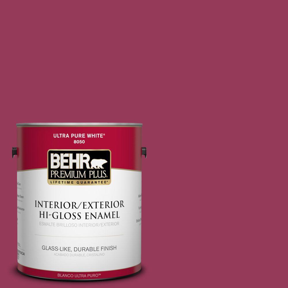 1-gal. #110B-7 Raspberry Pudding Hi-Gloss Enamel Interior/Exterior Paint