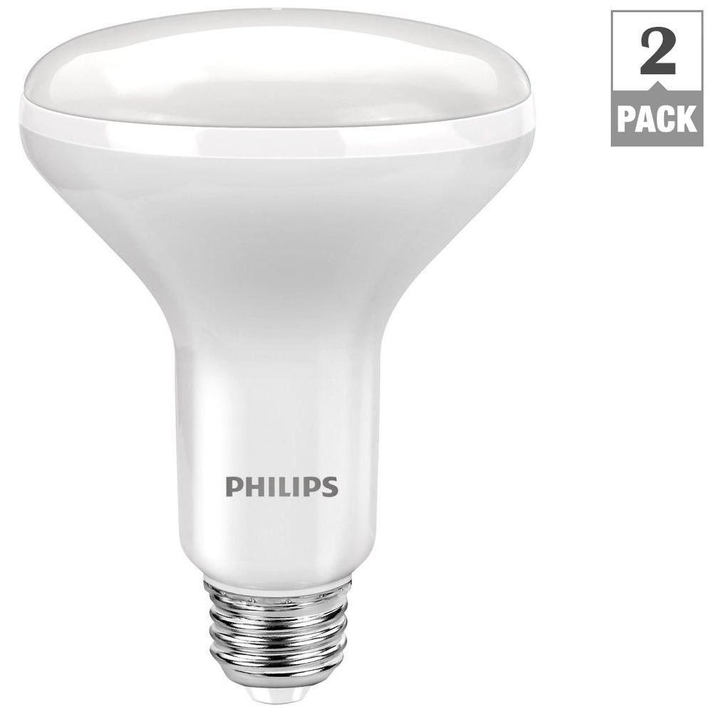 65W Equivalent Daylight BR30 LED Light Bulb (2-Pack)