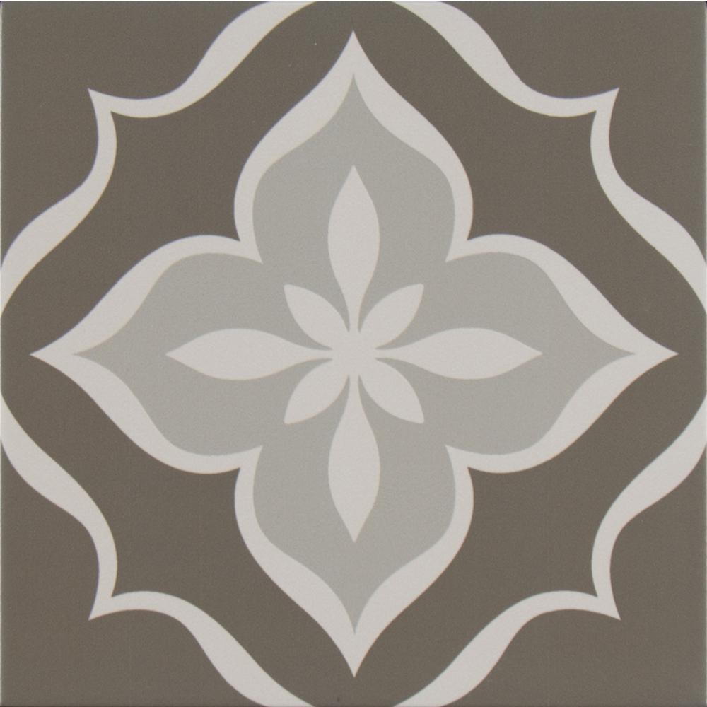 MSI Fleura Encaustic In X In Glazed Porcelain Floor And Wall - Encaustic tile home depot