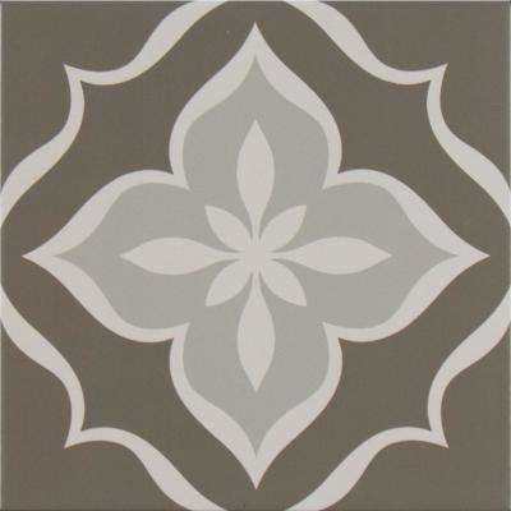 Fleura Encaustic 8 in. x 8 in. Glazed Porcelain Floor and Wall Tile (5.33 sq. ft. / case)