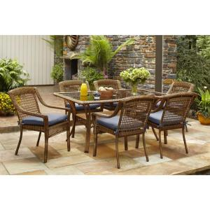 Hampton Bay Spring Haven Brown 7-Piece All-Weather Wicker Outdoor Patio Dining Set with... by Hampton Bay