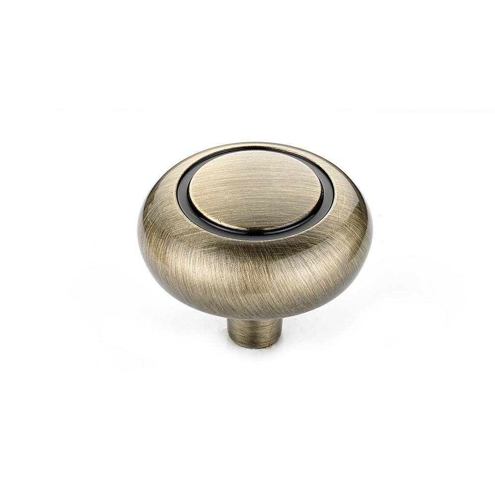 1-17/64 in. Antique English Cabinet Knob