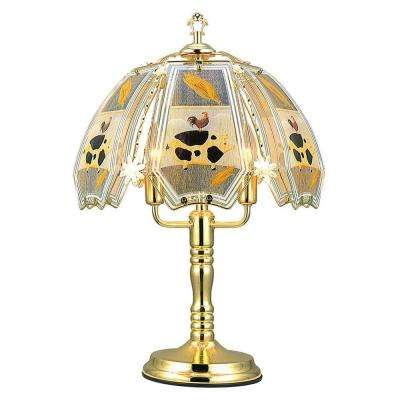 23.5 in. Barn Brushed Gold Touch Lamp
