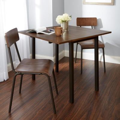 Owen 3-Piece Brown and Gray Dining Set
