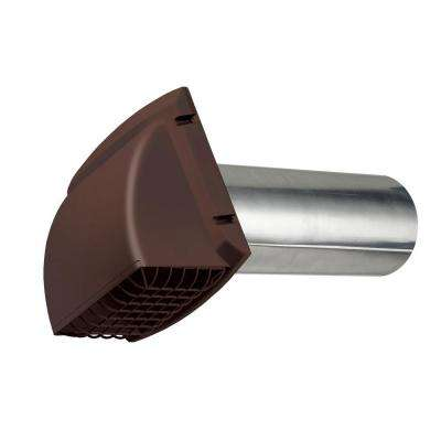 4 in. x 1.25 ft. Wide Mouth Dryer Vent Hood in Brown