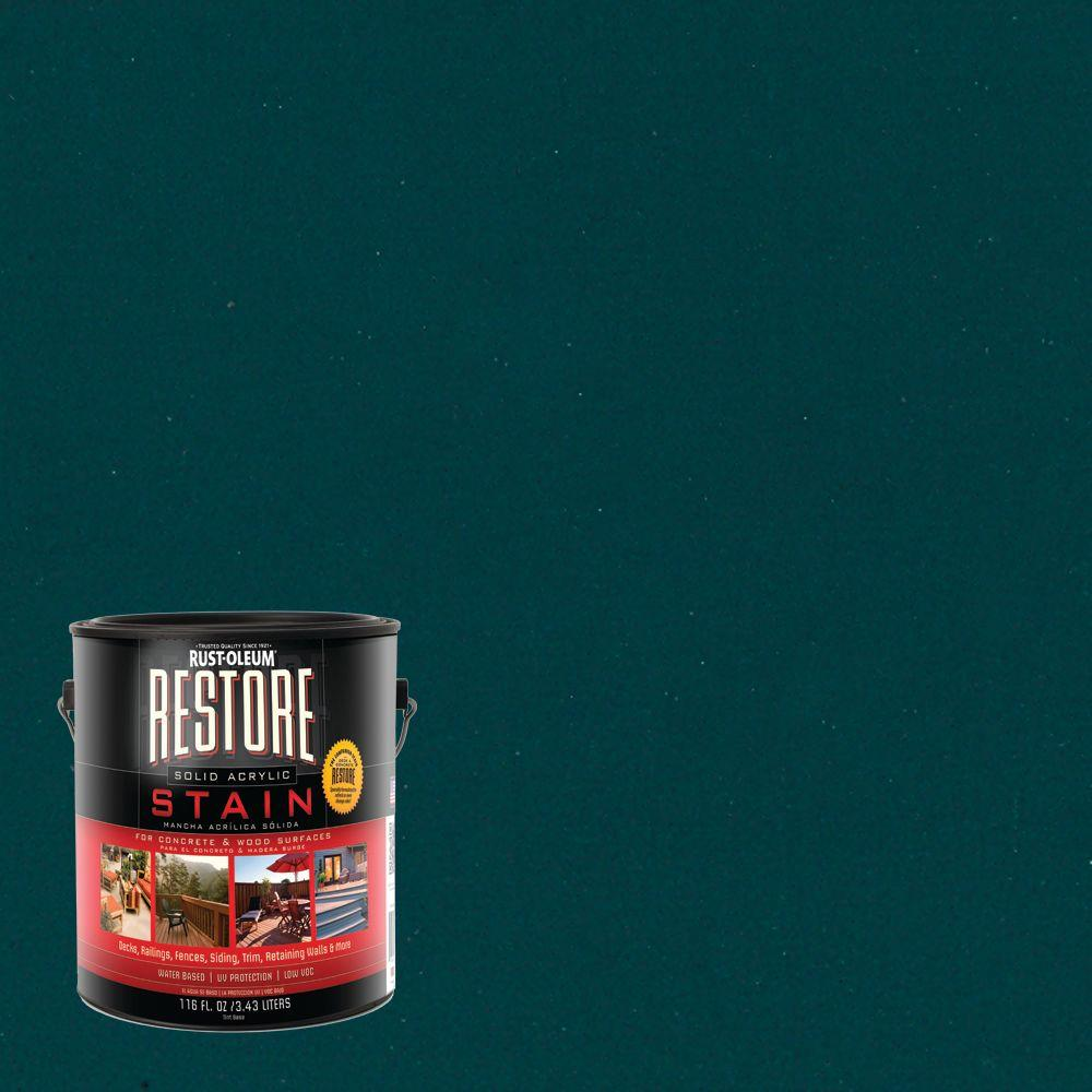 Rust-Oleum Restore 1 gal. Solid Acrylic Water Based Tile Green Exterior Stain