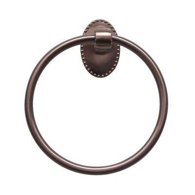 Cordelia Towel Ring in Satin Nickel