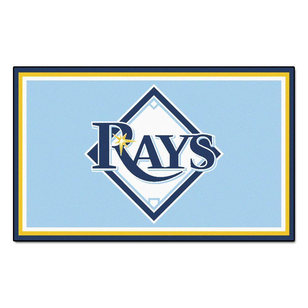 Fanmats Tampa Bay Rays 4 Ft X 6 Ft Area Rug 7087 The