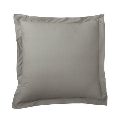 Organic Taupe Solid 200-Thread Count Cotton Percale Euro Sham