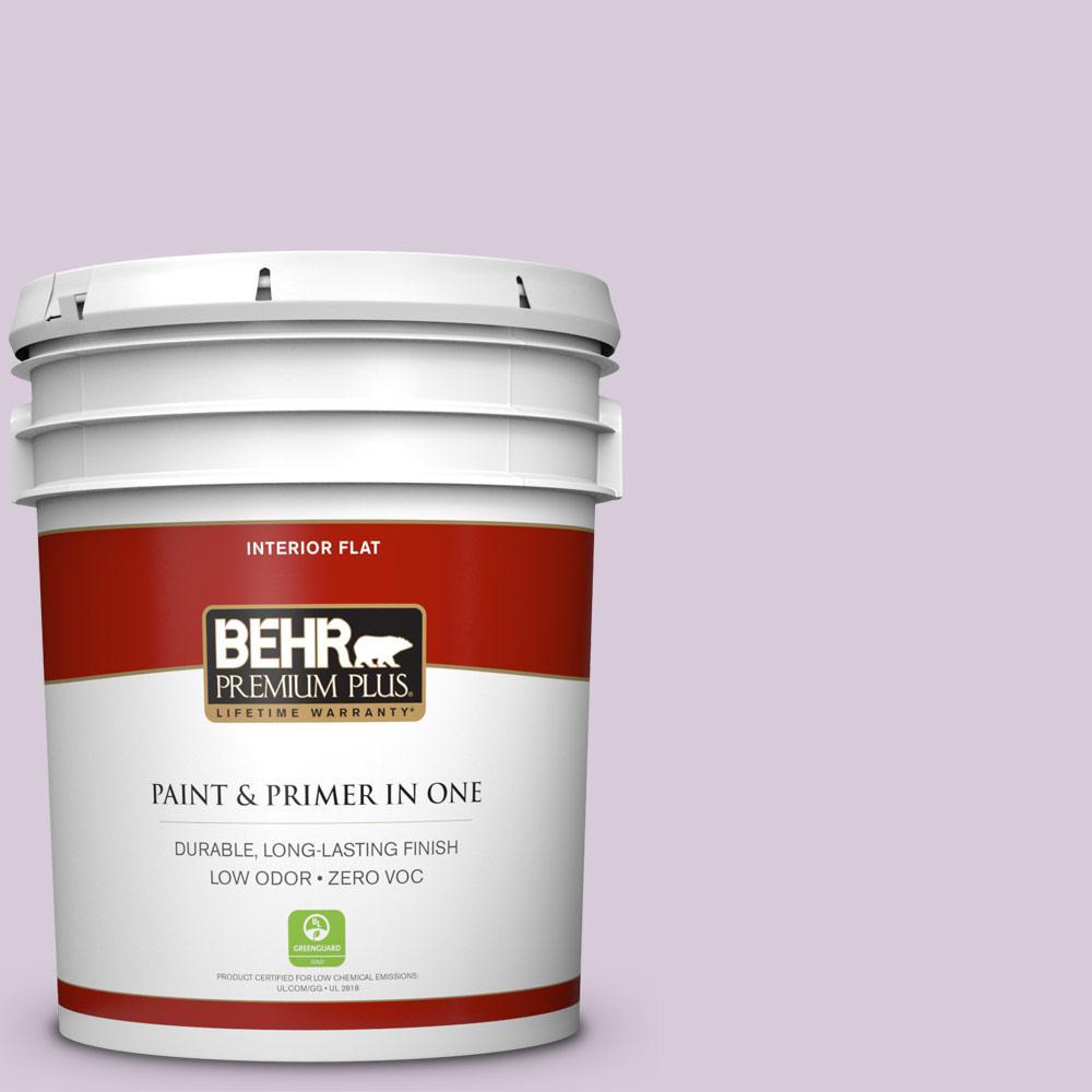 BEHR Premium Plus 5-gal. #670C-3 Purple Cream Zero VOC Flat Interior Paint