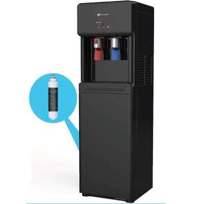 Self Cleaning Bottle Less Water Cooler Dispenser with Filter Hot/Cold Water Child Safety Lock UL/Energy Star in Black