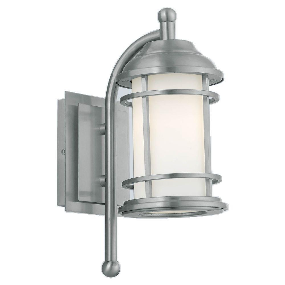 NEW 2 x WALL MOUNT SOLAR LED POWER LANTERN OUTDOOR LIGHT LAMP STAINLESS STEEL