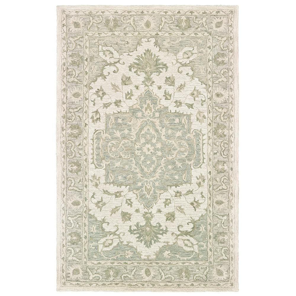 Lr Resources Modern Traditions Sea Green Gray 8 Ft X 10 Ft Indoor