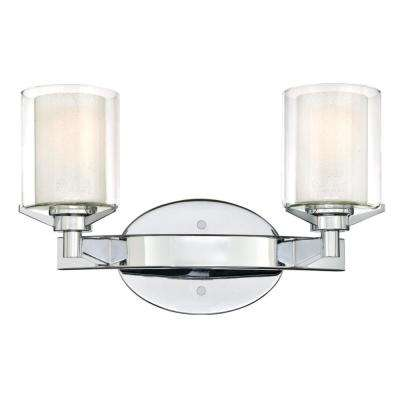 Glenford 2-Light Chrome Wall Mount Bath Light