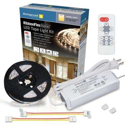 RibbonFlex Home 16 ft. LED Tunable White Tape Light Kit with Remote