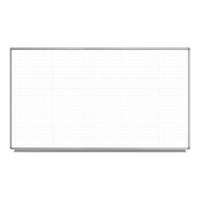 Lean Board 72 in. x 40 in. Wall-Mounted Whiteboard Magnetic Ghost Grid White (1-Pack)