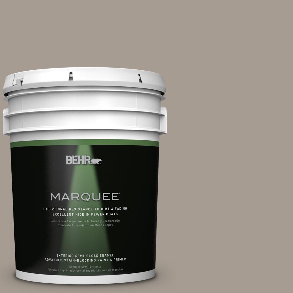 BEHR MARQUEE 5-gal. #N200-4 Rustic Taupe Semi-Gloss Enamel Exterior Paint