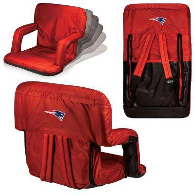 Ventura New England Patriots Red Patio Sports Chair with Digital Logo