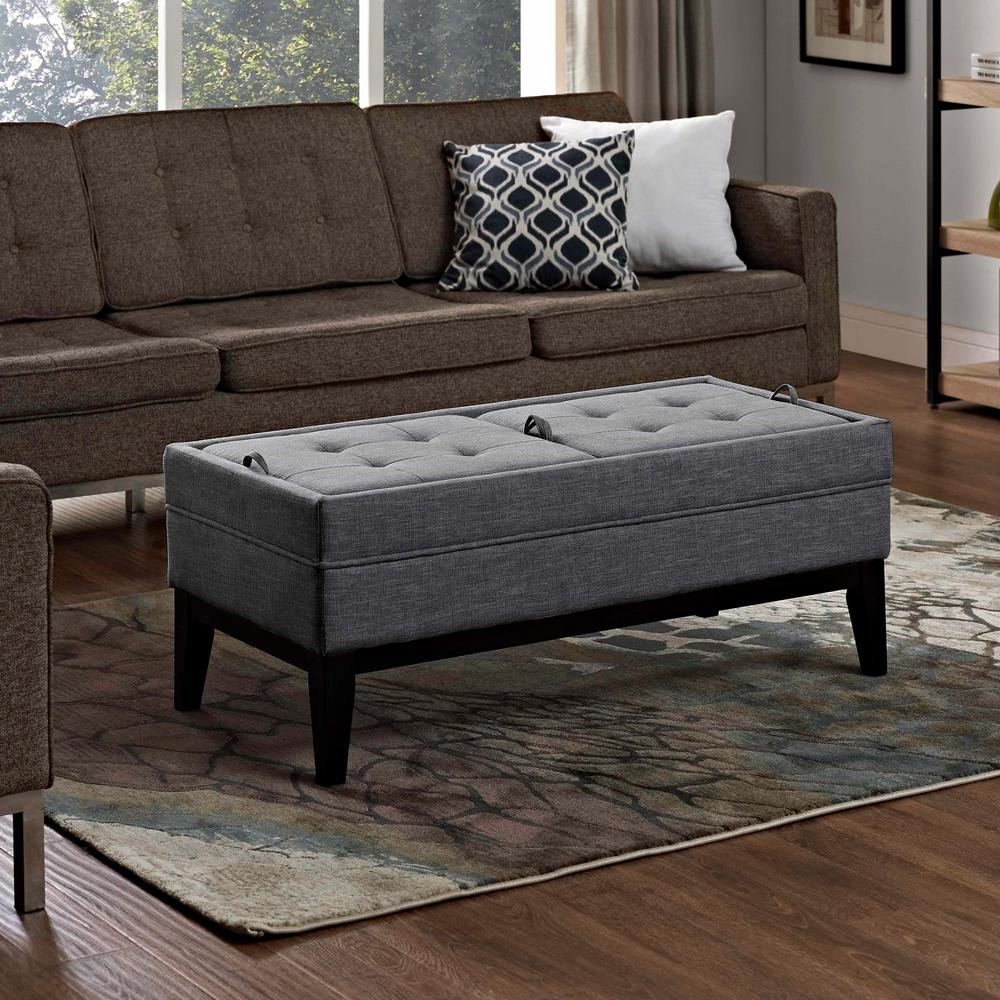Simpli home castlerock slate grey storage bench 3axcot 243 gl the home depot Gray storage bench