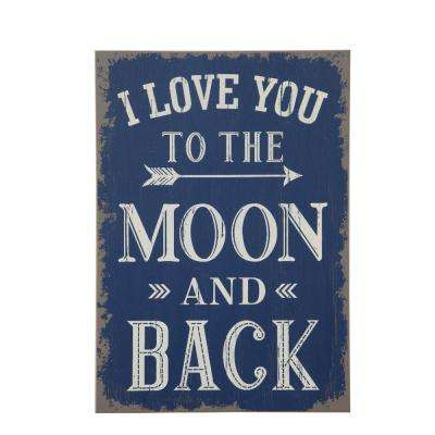 "19 in. H x 13.5 in. W ""To The Moon and Back"" Wall Art"