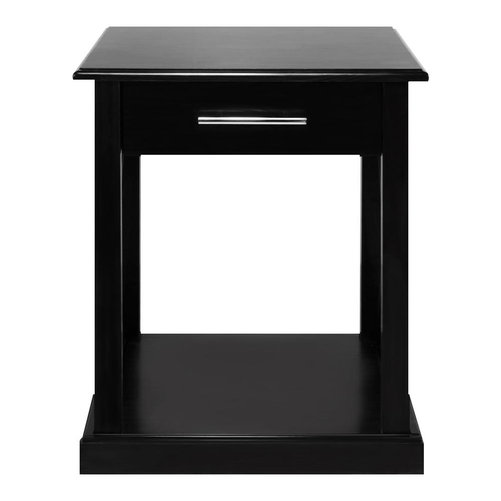 Bay View Black End Table
