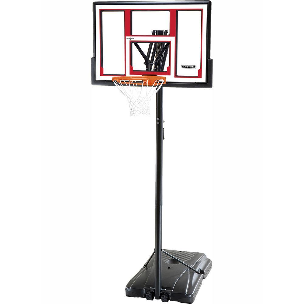 Lifetime 48 in. Polycarbonate Adjustable Portable Basketball Hoop