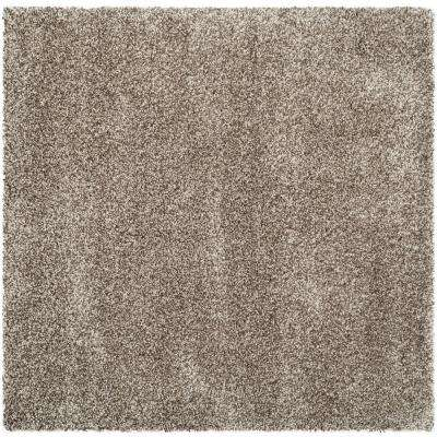 Milan Shag Gray 7 ft. x 7 ft. Square Area Rug