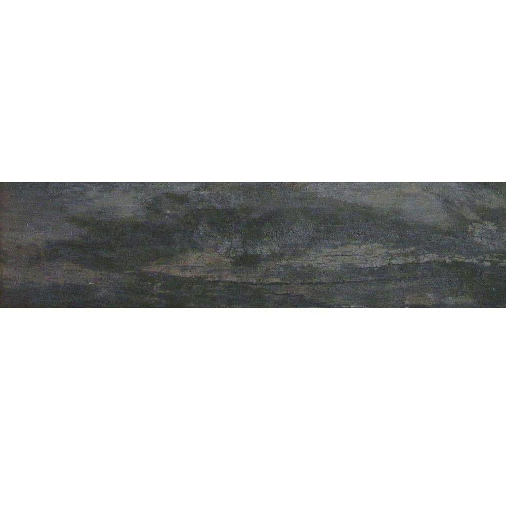 marazzi montagna smoky black 6 in x 24 in glazed porcelain floor and wall