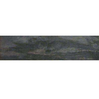 Montagna Smoky Black 6 in. x 24 in. Glazed Porcelain Floor and Wall Tile (14.53 sq. ft. / case)