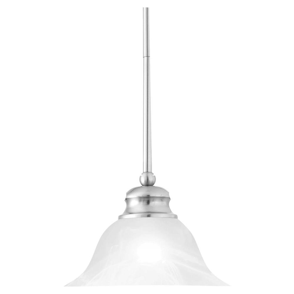 Thomas Lighting 1 Light Brushed Nickel Hanging Pendant