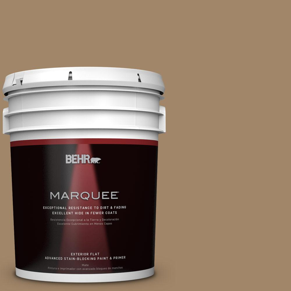 Home Decorators Collection 5-gal. #HDC-NT-28 Soft Bronze Flat Exterior Paint