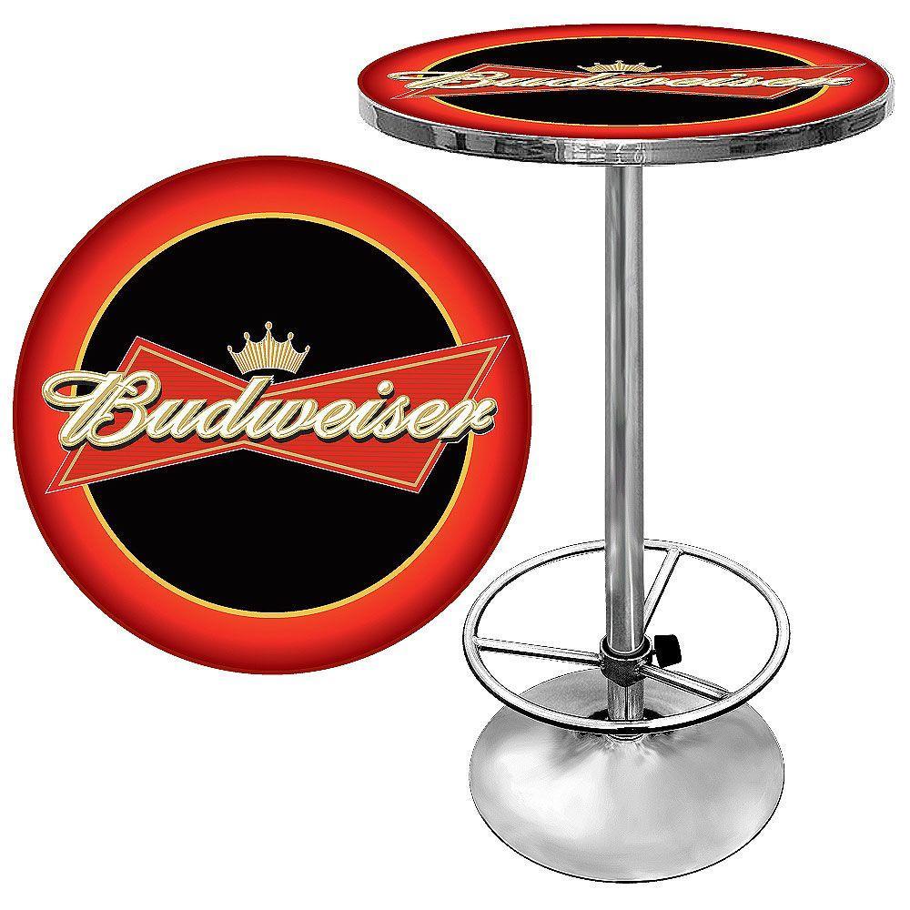 Budweiser Bowtie Chrome Pub/Bar Table