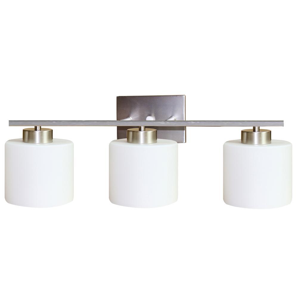 Fulton 3-Light Nickel Bath Light