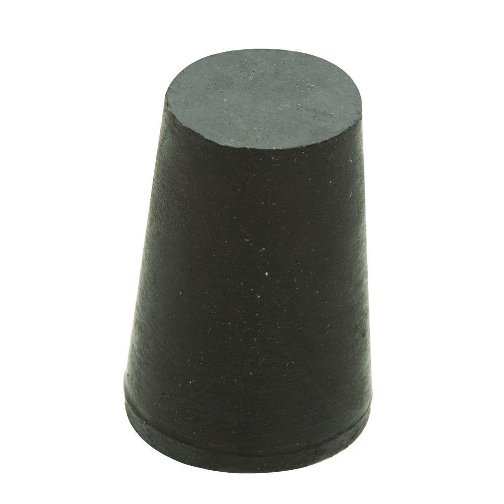 11/16 in. x 1/2 in. Black Rubber Stopper