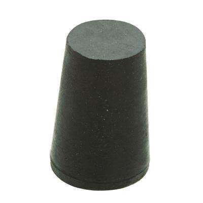 1-1/8 in. x 15/16 in. Black Rubber Stopper
