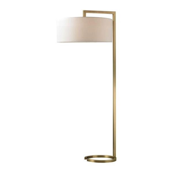 Ring Base 60 in. Antique Brass Floor Lamp
