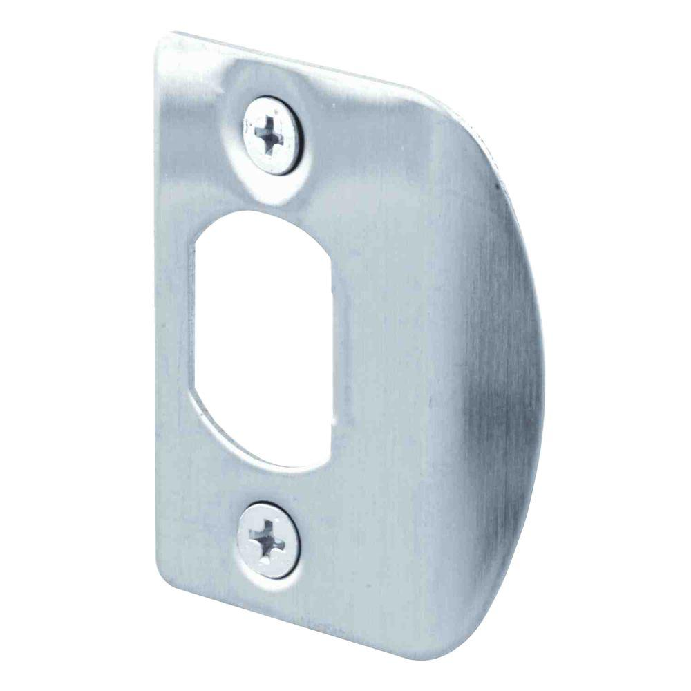 Prime Line Stainless Steel Door Jamb Strike Plate (2 Pack)