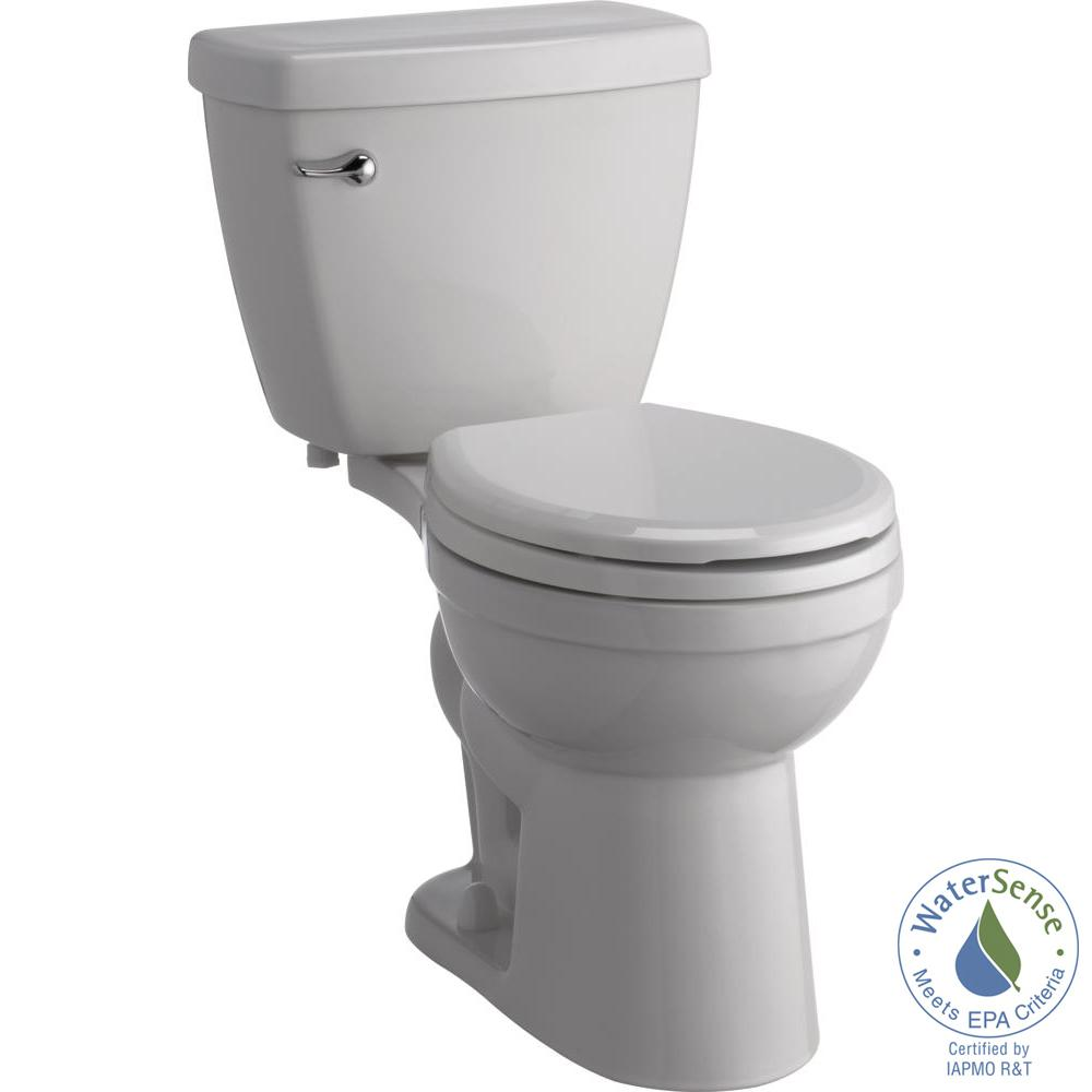 White Toilet With Black Seat. Delta Foundations 2 Piece 1 28 GPF Single Flush Round Front Toilet with  Sanborne Slow